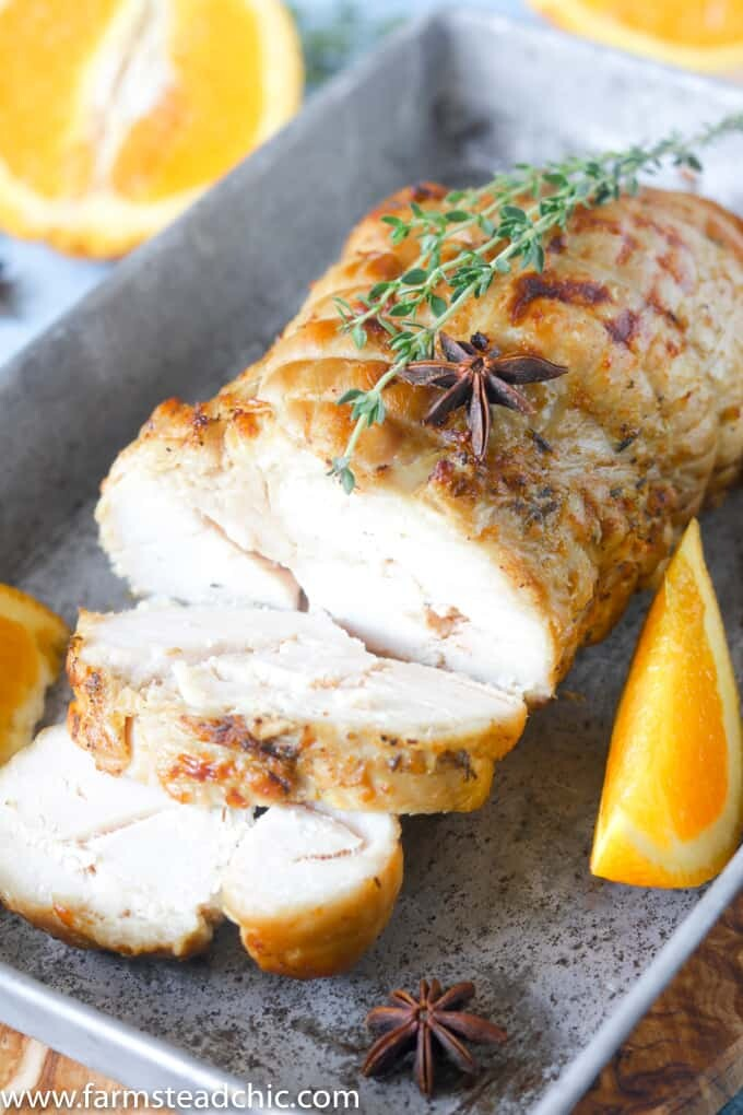 This Paleo and Whole30 Slow Cooker Turkey Breast with Orange & Thyme is incredibly moist and tender, super easy to make and full of autumn flavor.