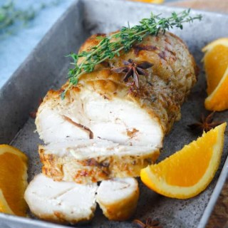 Paleo and Whole30 Slow Cooker Turkey Breast with Orange & Thyme
