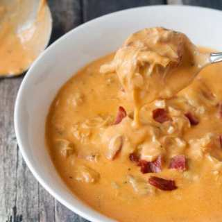 Instant Pot Keto Buffalo Chicken Bacon Soup, Low Carb