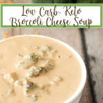 low carb, keto broccoli cheese soup