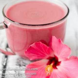 Low Carb, Keto Hibiscus Tea Latte – Whole30, Paleo