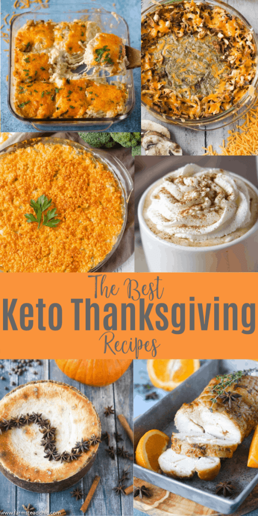 A roundup of the best Keto Thanksgiving recipes from the blog! #ketothanksgiving #lowcarbthanksgiving #farmsteadchic #ketoholidaymealplan #lowcarbholidaymealplan