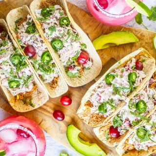 Instant Pot Cranberry Chipotle Chicken Tacos – Low Carb, Keto Tacos