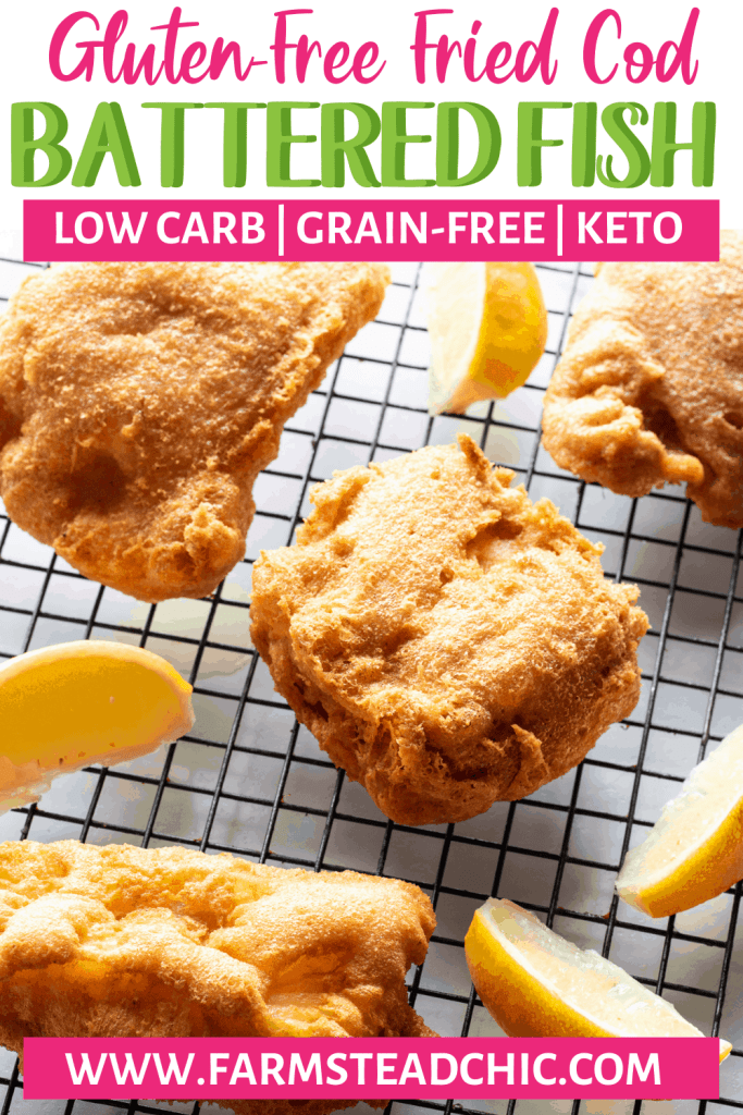 Keto Fried Fish - Low Carb Battered Cod Fish