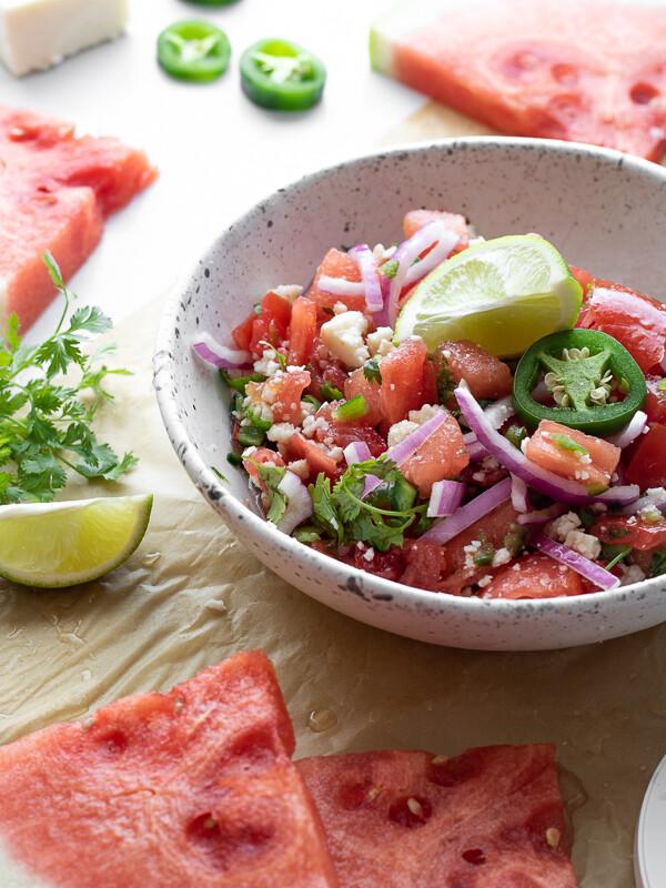Spicy Watermelon Summer Salad