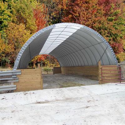 Hoop Barns Livestock Housing Portable Garages Pole Barn