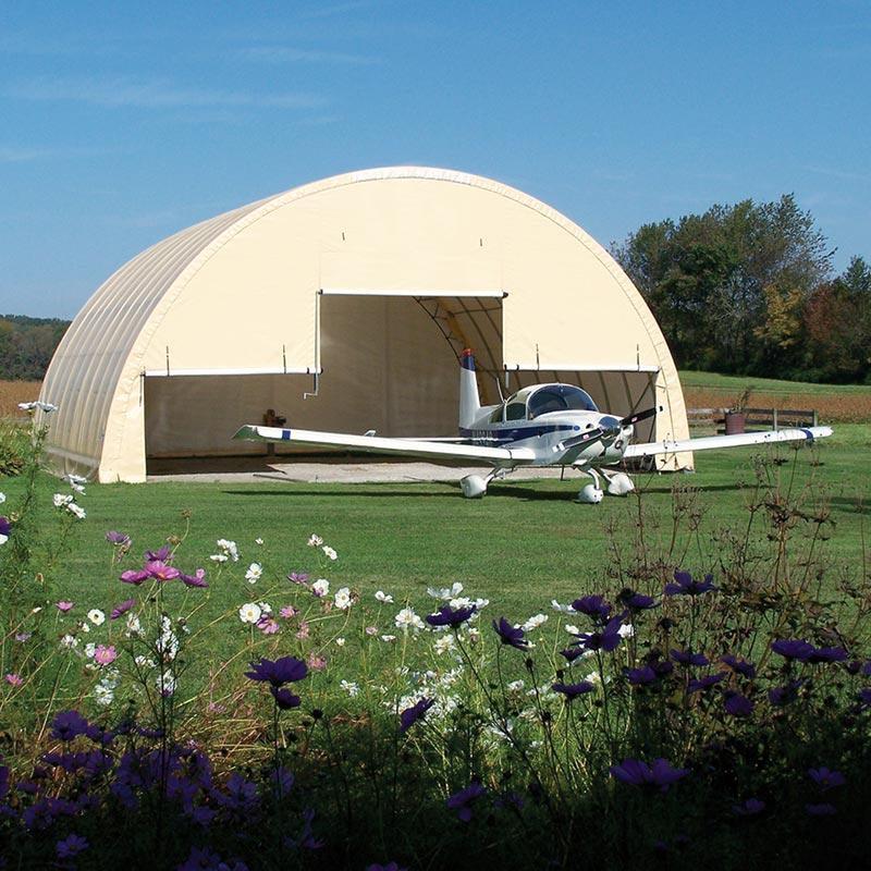 ClearSpan Aircraft Hangar  42W x 17H x 48L Tan  FarmTek