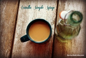 Making a vanilla simple syrup can make your coffee at home coffee shop flavor worthy without the cost. Simple syrup is easy to make and keeps in the fridge for two weeks.