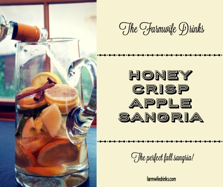 Want a crisp, fall inspired wine drink? Apple sangria recipe that is full of the flavor of fall without being overly sweet.