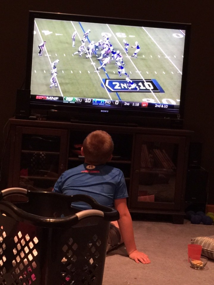 Watching the Colt's Game