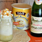 A great fall treat in these apple cider floats. This is a great ice cream dessert recipe or after school snack and just a three ingredient recipe.