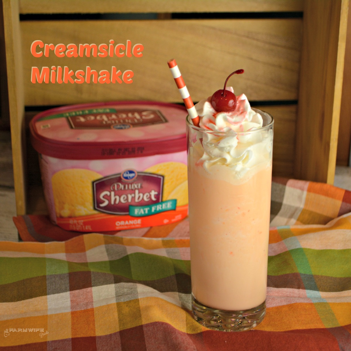 Orange Creamsicle milkshakes are refreshing and reminiscent of the orange push-ups we ate all summer long growing up.