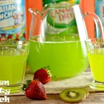 Looking for a green punch? This 3 ingredient recipe is easy to make and sure to be a favorite at a green themed party.