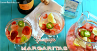 Strawberry Champagne Margaritas are my go to margaritas on Friday nights or Taco Tuesdays. Simple Margarita recipe perfect for sharing.