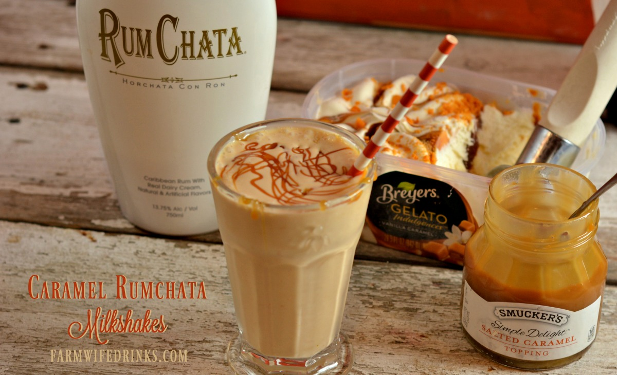 This Caramel Rumchata Milkshake mixed with rumchata and caramel gelato or ice cream creates one of the best adult milkshake recipes.