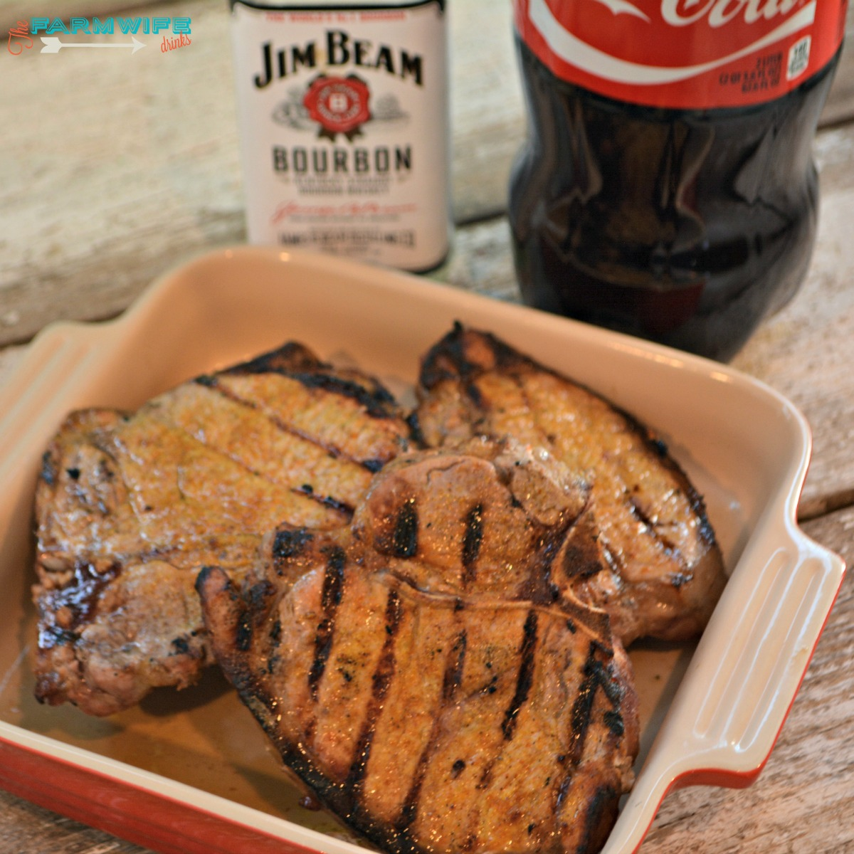 Bourbon and Coke Pork Chops are as tasty as the popular cocktail. This easy combination is recipe for juicy, tender pork chops.