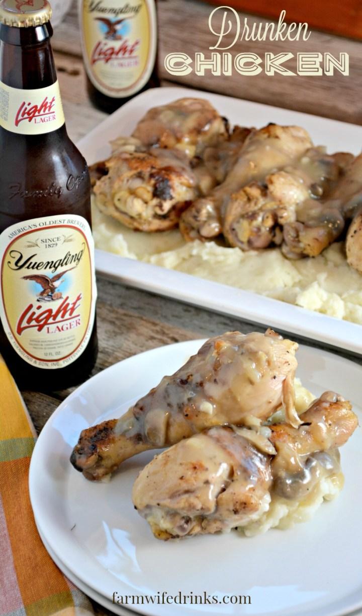Drunken Chicken is a beer marinaded, crispy chicken recipe that everyone will love.
