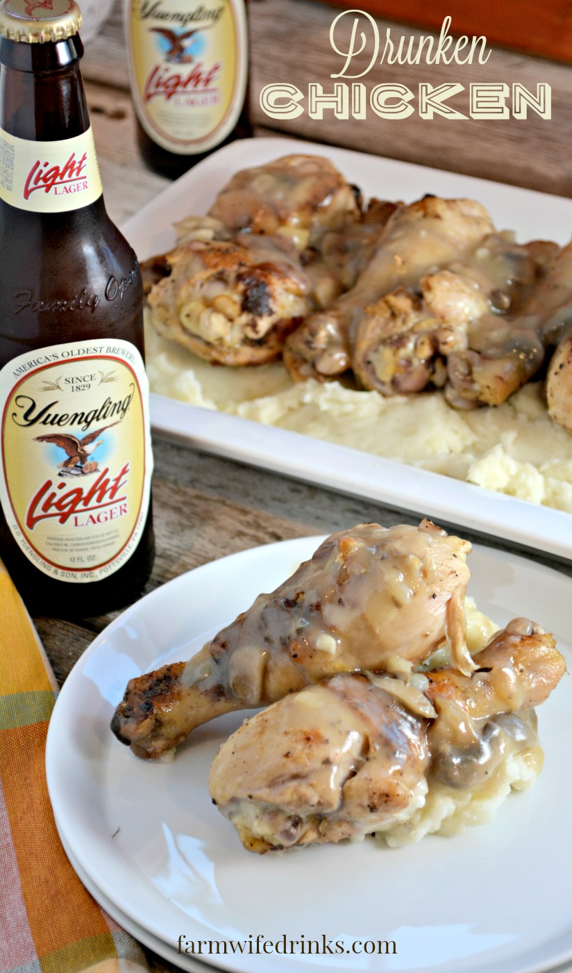 Drunken Chicken is a beer marinaded, crispy chicken recipe that everyone will love.