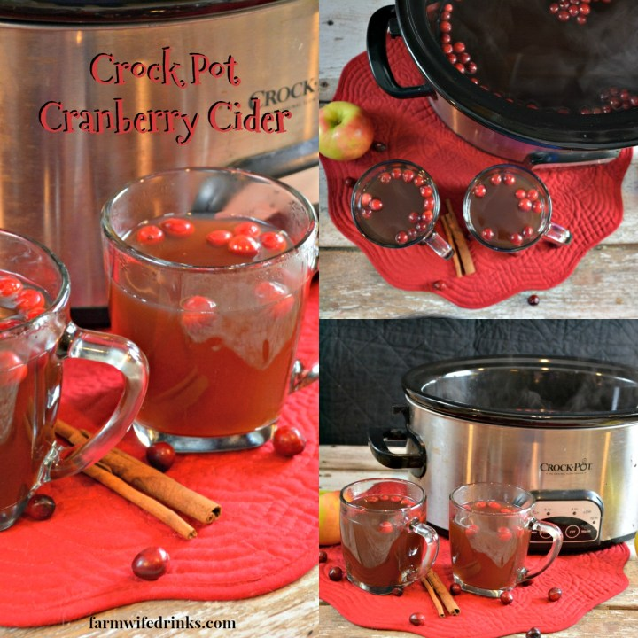 Crock Pot Cranberry Cider is a delicious spiced apple cider made in the slow cooker. This perfect fall or winter drink recipe can be made with a splash of rum or not for all to enjoy.