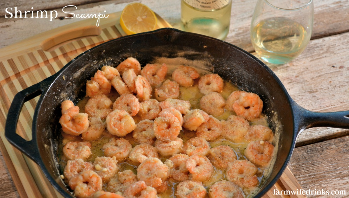 Shrimp Scampi with a white wine butter sauce is a 20 minute meal served with some pasta is sure to be a hit.