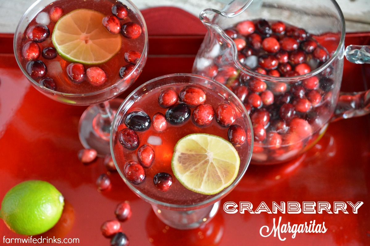 Not your traditional flavor of pitcher of these cranberry margaritas, but full of tang and tartness in the cranberry that pairs well with silver tequila.