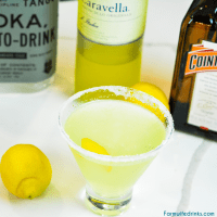 Lemon Drop Martini with limoncello is sweet and tart thanks to both the sugar rim and limoncello in the best lemon martini.
