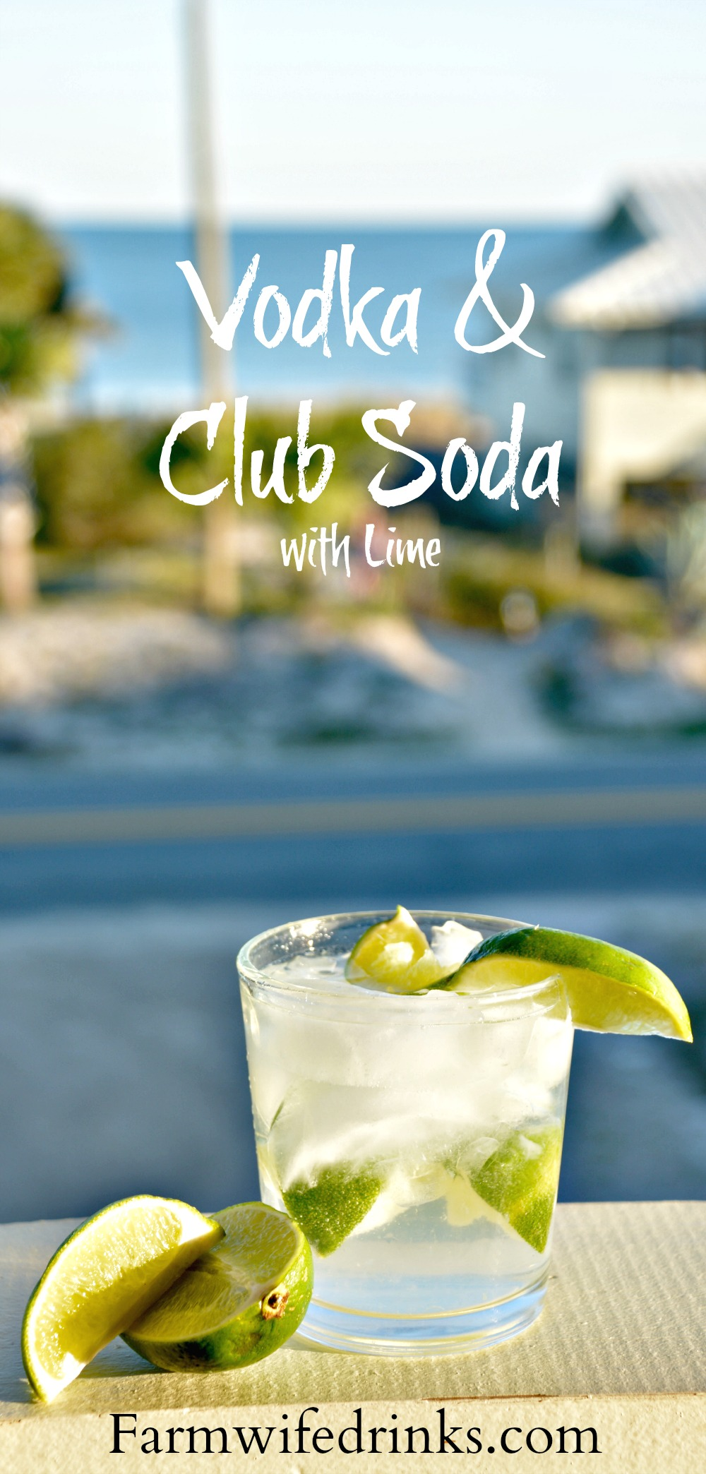 Tito's vodka and club soda with lots of lime is my favorite go-to cocktail when I want a light but stiff drink.