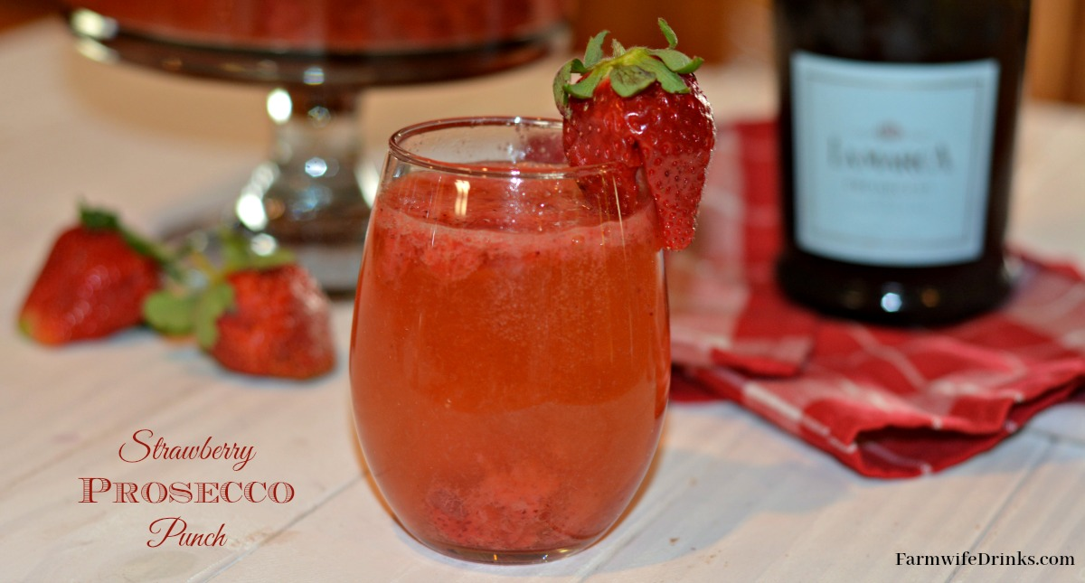 This Strawberry Prosecco Punch recipe is the perfect cocktail recipe for a crowd, wedding shower, or pool party.