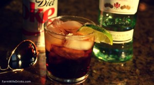 Bacardi Rum and diet coke is great low-carb cocktail that won't break your diet.