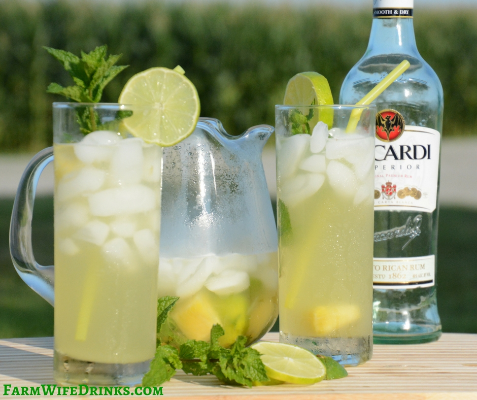 The sweet pineapple juice is a great combination with a traditional mojito to make some might tasty pineapple mojitos.