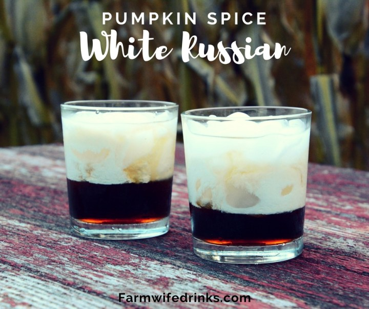 Like all the pumpkin spice latte lovers, I have my boozyversion of this fall favorite with this pumpkin spice White Russian.