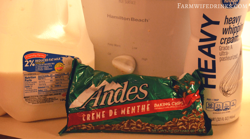 The crock pot Andes mint hot chocolate was sweet and decadent and smooth. All the things one would imagine when you combine Andes mints with milk and a few other rich ingredients.