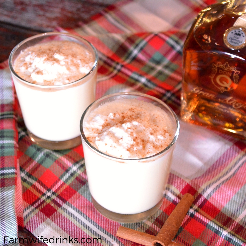 Homemade Eggnog Spiked With Spiced Rum