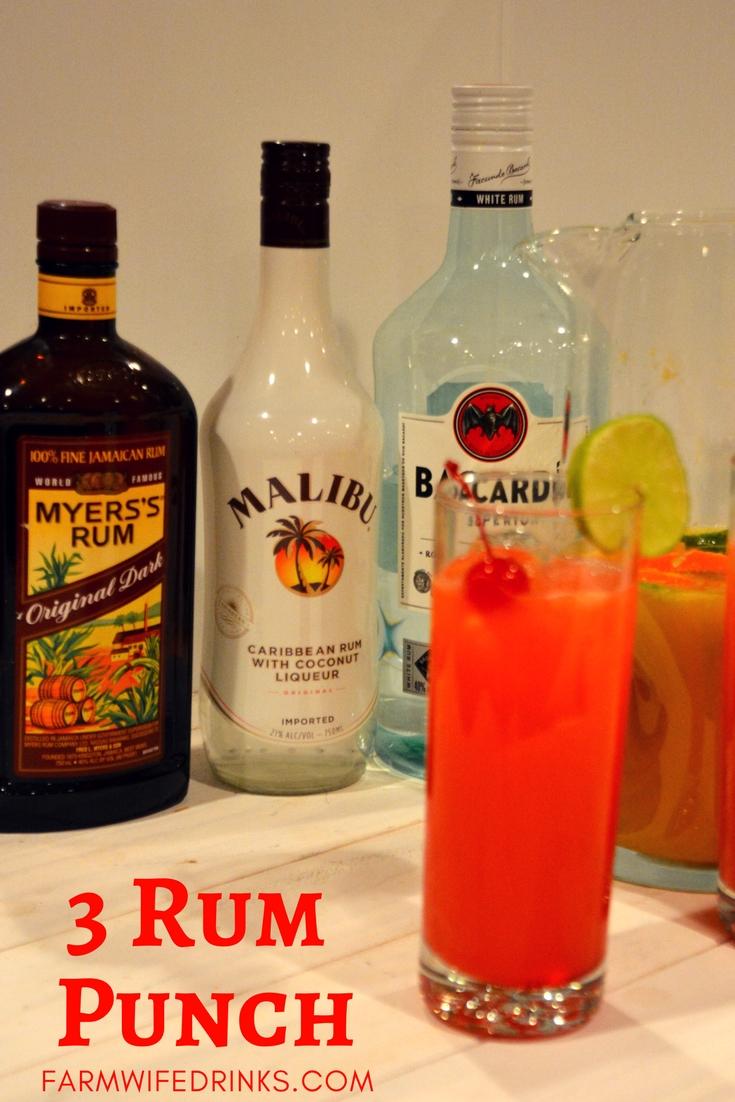 3 rum punch