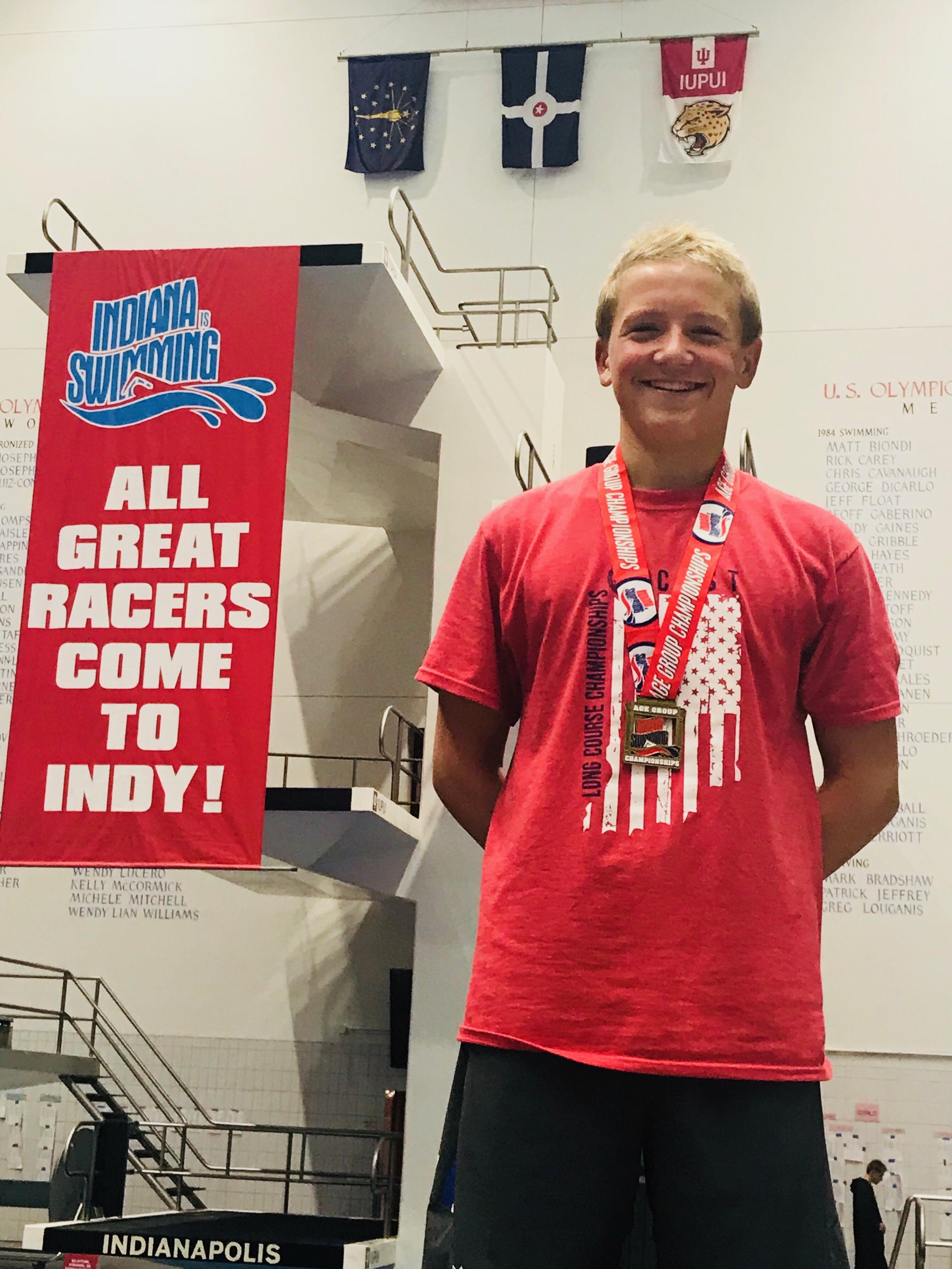 Indiana Swimming 200 Breaststroke Champion