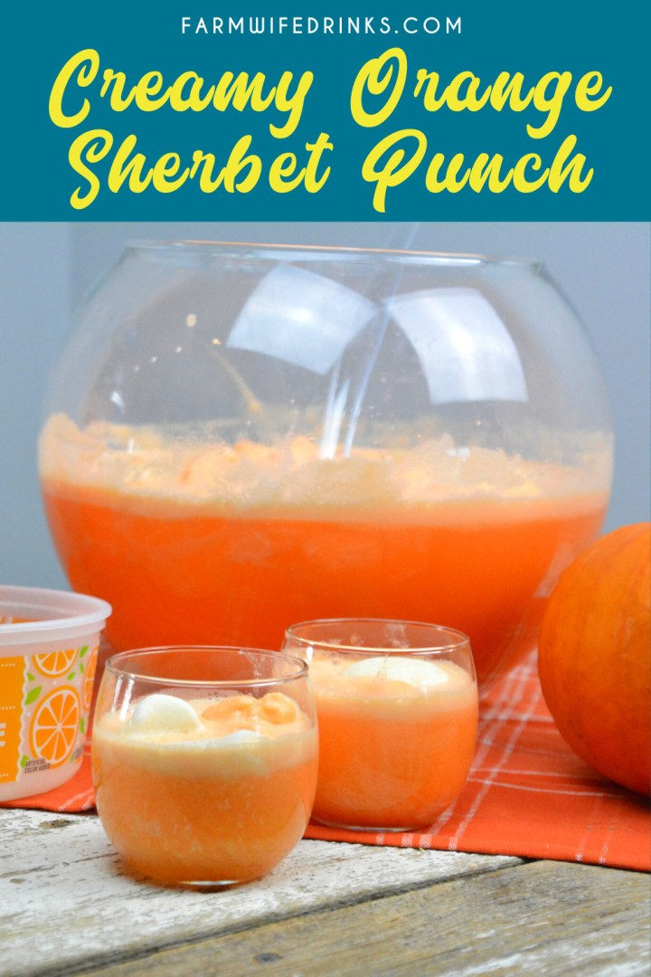 Creamy Sherbet Orange punch can be the sweet combination of sherbet, vanilla ice cream with orange Hawaiian Punch and a bit of Sprite to give it a little fizz.