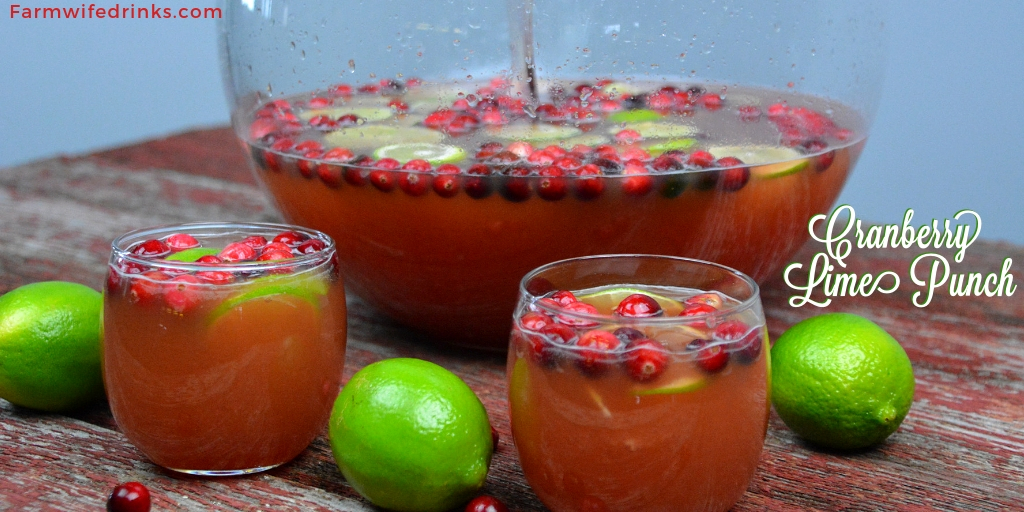 Vodka-Spiked Cranberry Lime Punch is the perfect Christmas punch as it can be kid friendly and have a dose of lime vodka for the adults. #VodkaPunch #Cranberry #Punch
