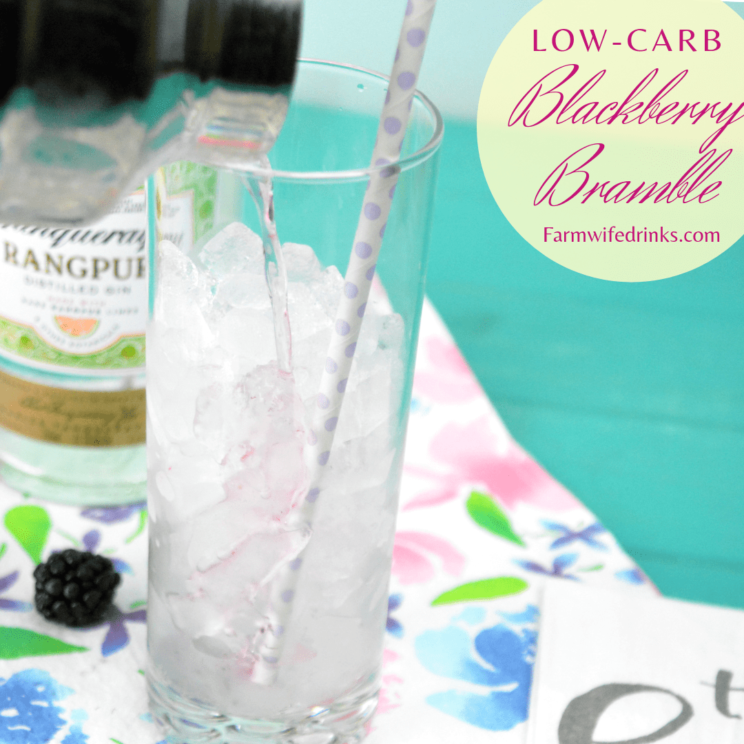 Low Carb Blackberry Bramble is a low carb blackberry lemonade gincocktail combines sparkling ice lemonade and blackberry drinks with muddled blackberries and gin.#Cocktails #LowCarb #Gin #Blackberry #Lemonade