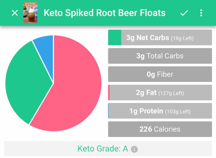 Keto spiked root beer float macros