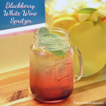 Blackberry white wine spritzer that was full of sage and citrus and berry flavors for a great crisp cocktail. #Wine #WhiteWine #WineSpritzer #Blackberries