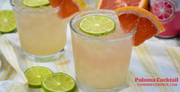 Paloma Cocktail – Classic Grapefruit and Tequila Cocktail
