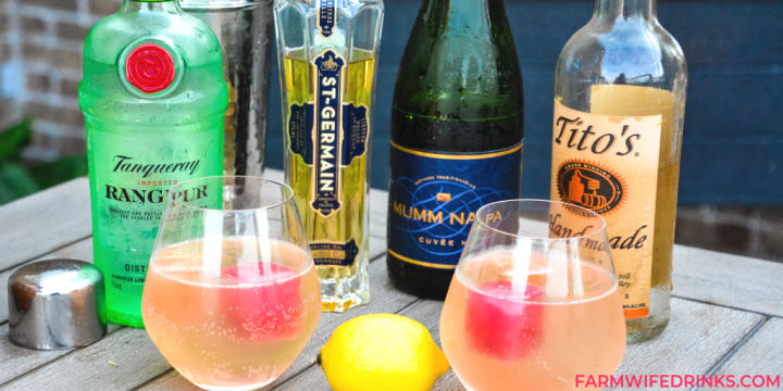 This Siren cocktail known as one of the best cocktails in Sarasota at the Ritz-Carlton is full of booze and has a crisp citrus flavor using both grapefruit and lemon juices with just a touch of sweet and tartness. #Cocktail #Gin #Vocka #StGermain #Prosecco #SummerDrinks