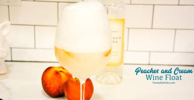 Peaches and Cream Wine Float Recipe