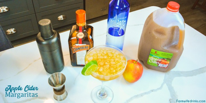 Apple Cider Margarita is the perfect fall margarita with the tequila, orange liquor, apple cider, and lime juice shaken together for an amazing fall cocktail.