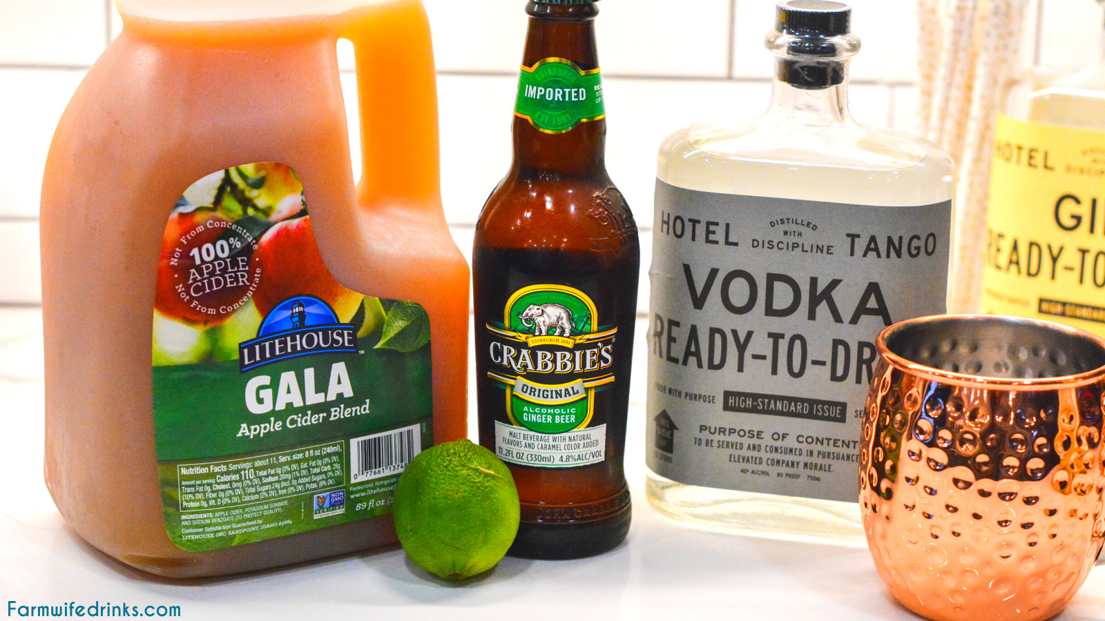 Apple Cider Moscow Mules Ingredients