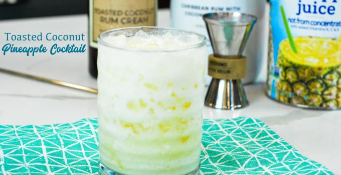 Toasted Coconut Rum Pineapple Cream Cocktail