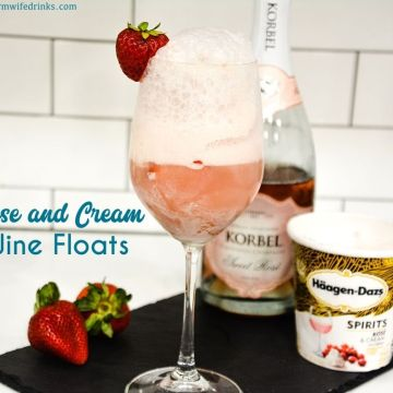 Rosé and Cream Floats combine two amazing items - rosé wine and ice cream for a frozen wine treat that is perfect as a dessert, after-dinner drink, or poolside cocktail.
