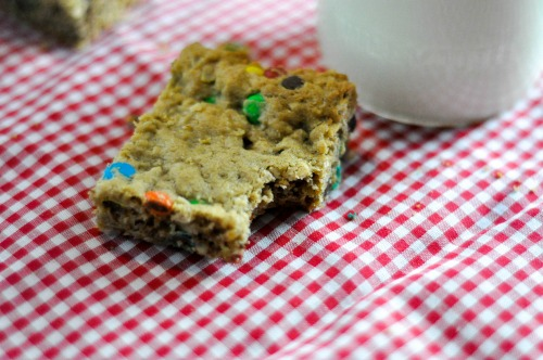 Quickie Monster Bars-Every bit as good as Monster Cookies and twice as easy