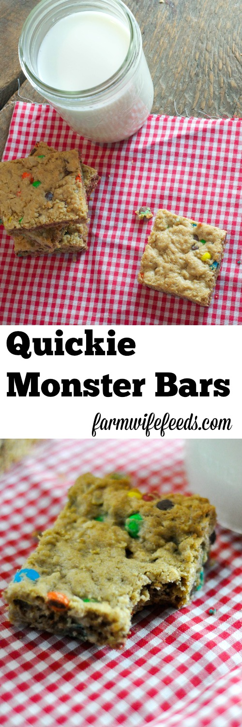 quickie monster bars the farmwife feeds. Black Bedroom Furniture Sets. Home Design Ideas