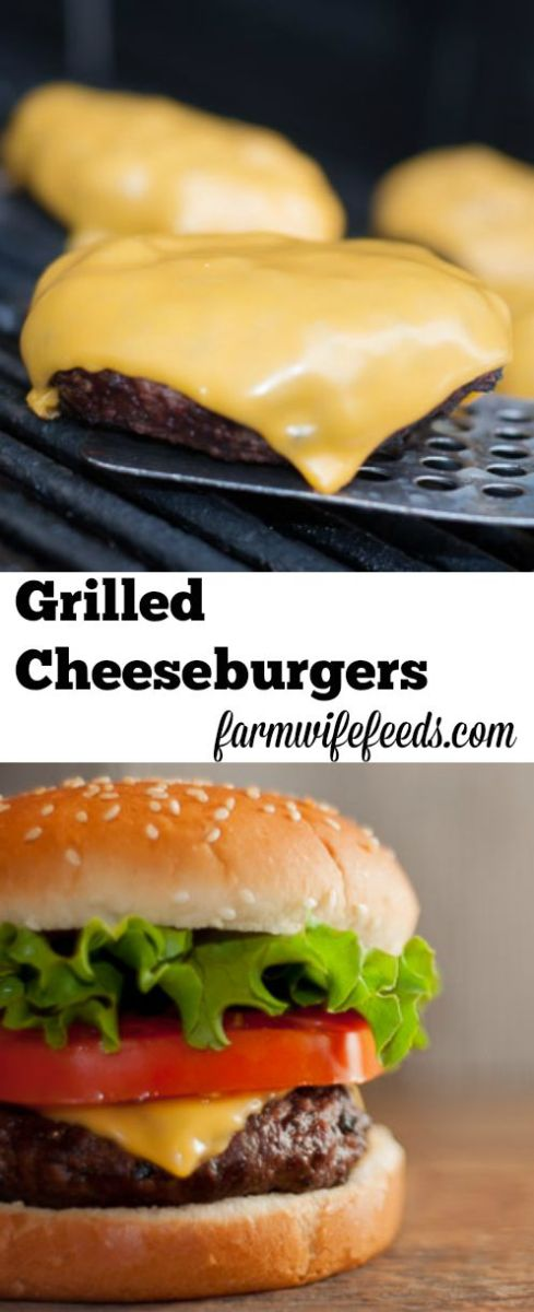 Grilled Cheeseburgers Pinterest